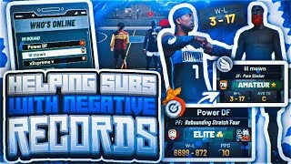 HELPING SUBS WITH WORST RECORDS GET WINS IN NBA 2K19 PARK! BEST DEMIGOD BUILD + WORST RECORDS