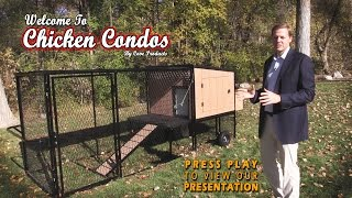 This easy to build urban style chicken coop is easy to clean, and easy to assemble. Check out more chicken coop ideas on our site.