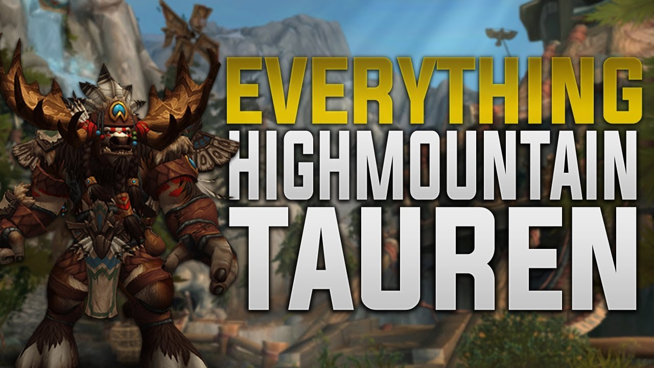 Highmountain Tauren Customization Tattoos Racials Druid Forms