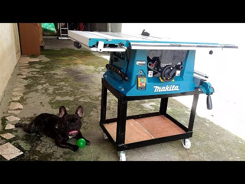 Makita MLT100 Table Saw Unboxing + DIY Steel Stand
