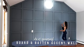 DIY BOARD AND BATTEN ACCENT WALL    Dream Bedroom Makeover For My Parents (Pt. 1)!
