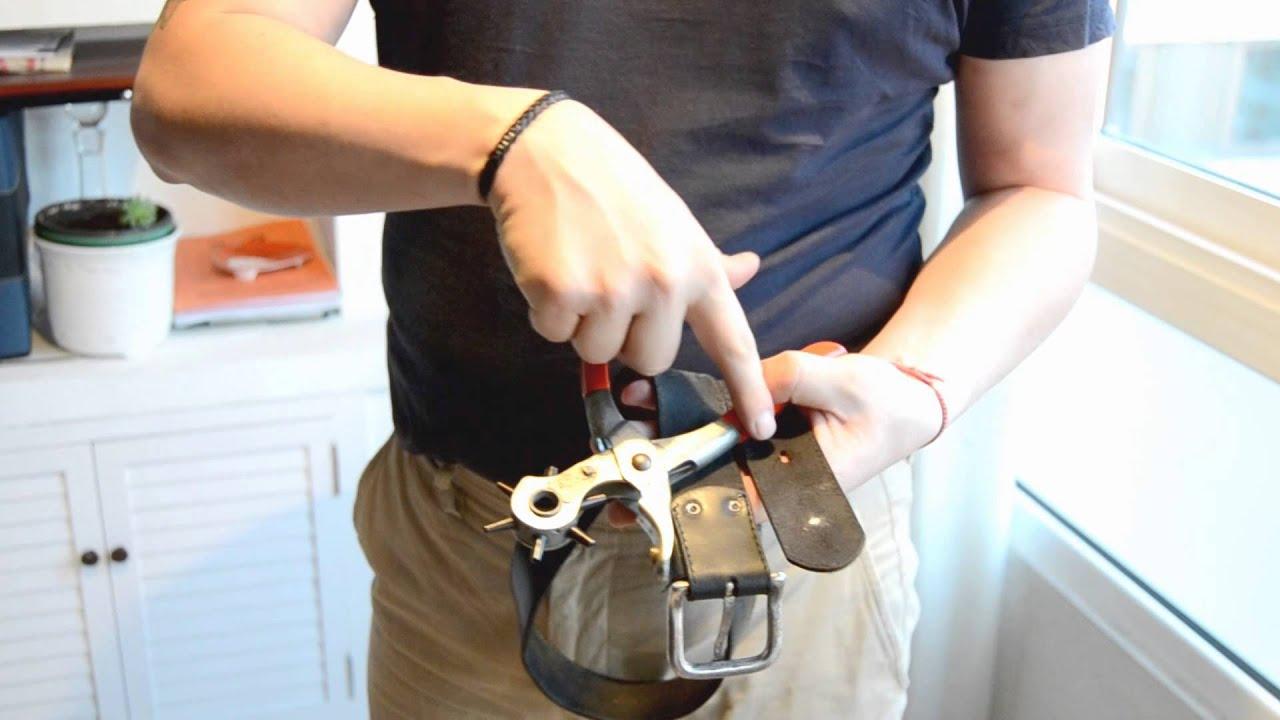 como hacer agujero en cintur n youtube