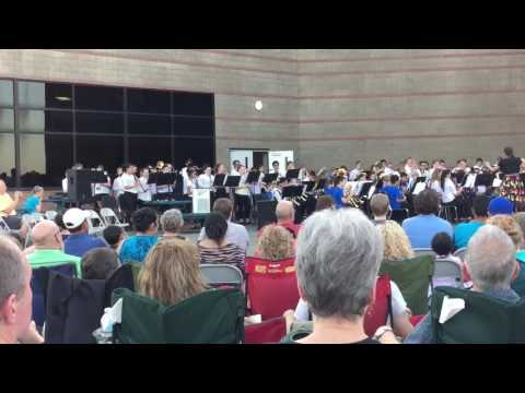 Leslie Middle School Bands performing Superheroes Are Us