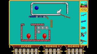 """The Incredible Machine - Puzzle 30: """"Pop All the Balloons"""" (1992) [MS-DOS]"""