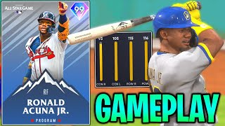 using NEW 99 RONALD ACUNA JR in MLB The Show 21 Diamond Dynasty