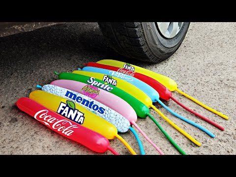 |Crushing Crunchy & Soft Things By Car| Coca Cola And Mentos Vs Car|