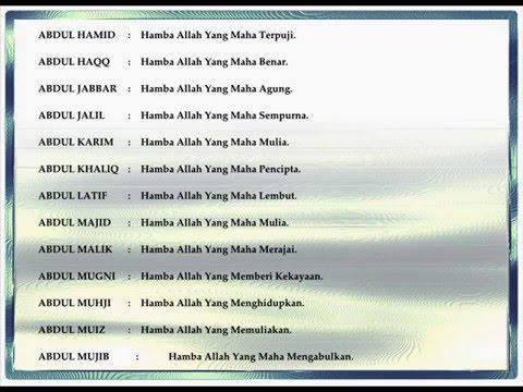 nama anak islami awalan A
