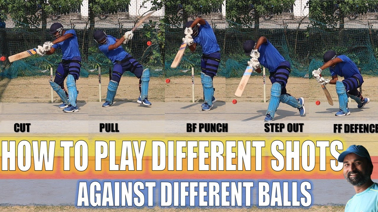 HOW TO PLAY DIFFERENT SHOTS AGAINST DIFFERENT BALLS IN BATTING | CRICKET TIPS | HINDI
