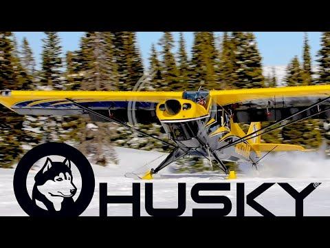 Tetons Husky Ski Landing