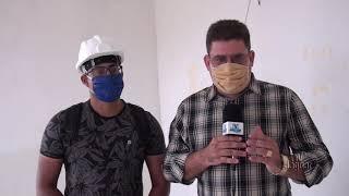 Alto Santo   Iniciados os trabalhos da reforma da ala de isolamento do Hospital Municipal Santa Rita