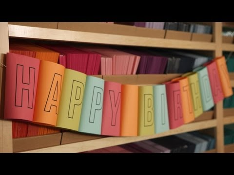 How To Make a Rolled Birthday Banner || KIN DIY