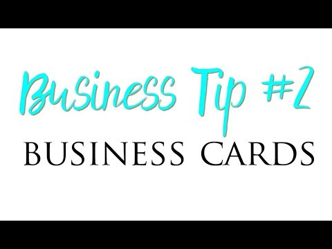 Business Tip Young Living: Business Cards
