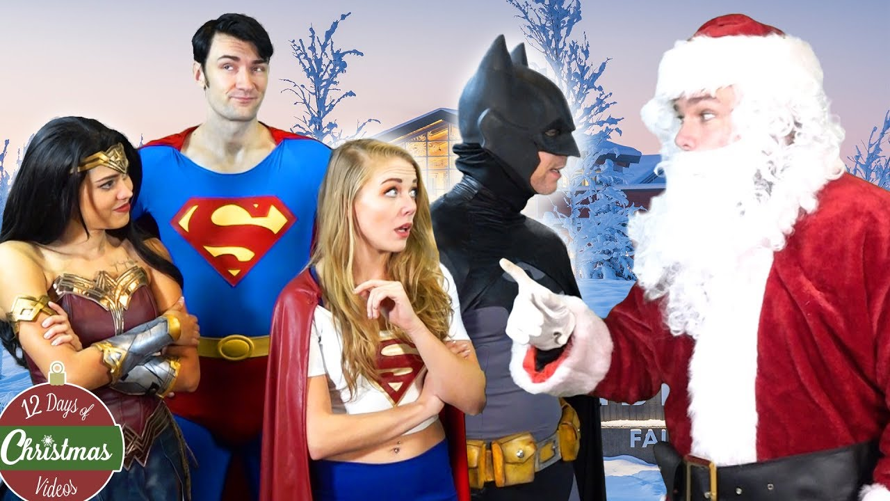Christmas Santa Tries To Join The Justice League Batman