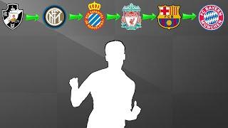 Quiz de futebol - Você consegue adivinhar o jogador pelos times que ele jogou ?