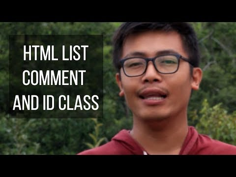 How to Learn HTML Id and  Class , List  and Comment - HTML and CSS  Id Class use thumbnail