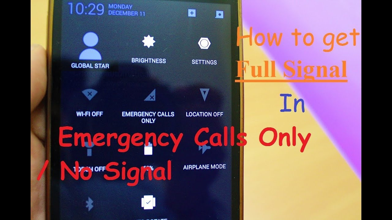 How to Get Full Signal In Emergency Calls Only Situaton | 100% Working  Solution