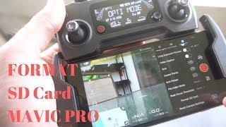 How To Format SD Card on DJI Mavic Pro