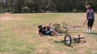 hit with fry pans and other stunts