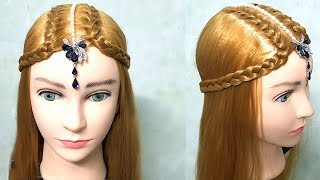 Easy Hairstyles for Wedding 🔆 Hairstyle with Maang Tikka for Medium or Long Hair 🌻 hairstyle 2019