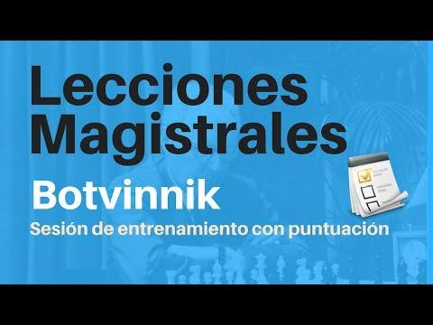 Lección Magistral Botvinnik - Sesión de entrenamiento con puntuación