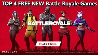 TOP 4 NEW FREE Battle Royale Games! (Games Like Fortnite and PUBG) FOR LOW & HIGH PC 2018 [HINDI]
