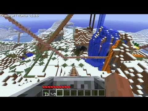 Thumbnail: minecraft biggest roller coaster ever HUGE HD