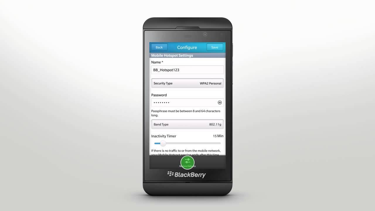 How To Set Up A Mobile Hotspot Using Blackberry 10  Inside Blackberry Help  Blog