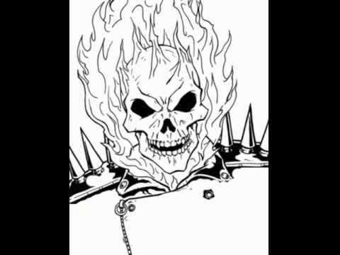 Para dibujar de calaveras con fuego - Imagui