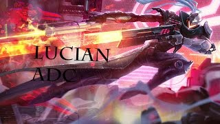 League of Legends - LUCIAN KOREAN BUILD ADC - Full Gameplay No Commentary