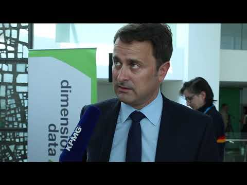 Prime Minister Xavier Bettel talks to KPMG Luxembourg at ICT Spring 2018