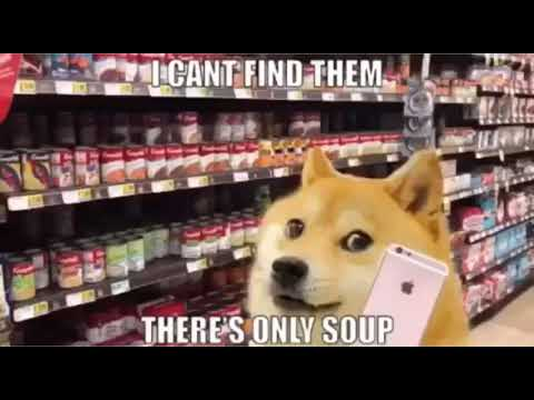 Doge goes to the soup store meme - YouTube