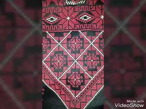 0536455cd عباية تطريز يدوي فلسطيني - YouTube
