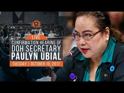 LIVE: Confirmation hearing of DOH Secretary Paulyn Ubial