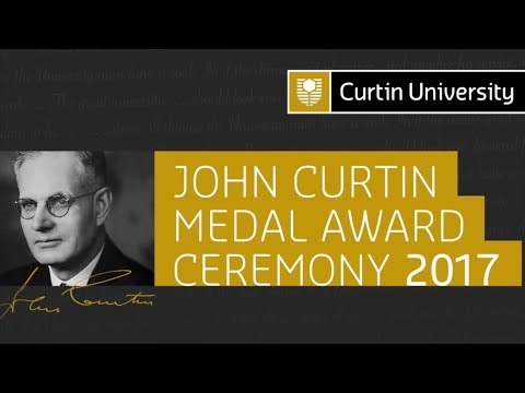 John Curtin Medal Award Ceremony 2017