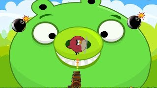 Angry Birds Collection Hacked 1 - BLAST HUGE PIG WHILE HE HOLDING BOMB!