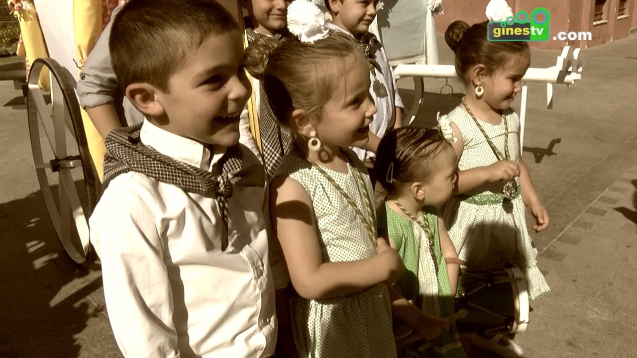 Los pequeños  de Gines viven su particular Rocío en vísperas de la Romería