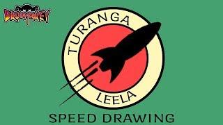 TURANGA LEELA (FUTURAMA)- speed drawing  | DROIDMONKEY