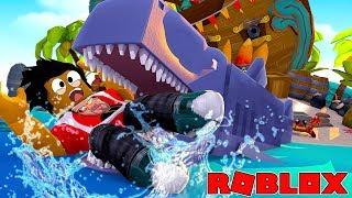 ROBLOX SHARK ATTACK!! - DONUT GETS EATEN VON EINEM KILLER SHARK JAWS!!