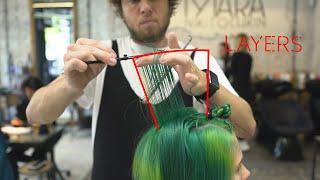 stunning short haircut: disconnected bob