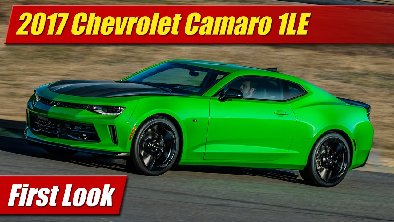 2017 Chevrolet Camaro 1LE: First Look - YouTube