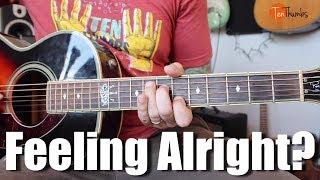 Feeling Alright? Joe Cocker Style Guitar Tutorial with Tabs
