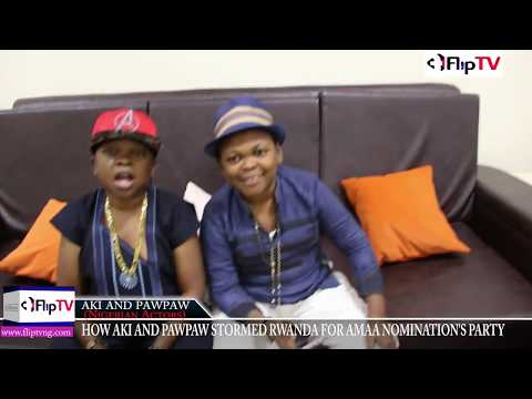 HOW AKI AND PAWPAW STORMED RWANDA FOR AMAA NOMINATION'S PARTY (Nigerian Lifestyle & Entertainment)