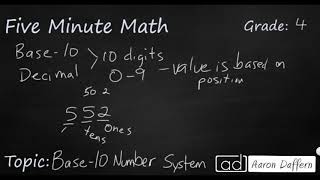 4th Grade Math Base-10 Number System