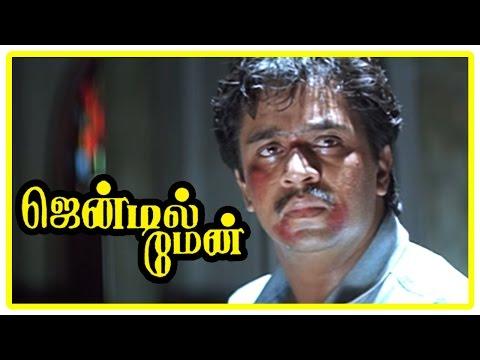 Gentleman Tamil Movie   Scenes   Arjun blames Rajan P Dev who denies the charges   Goundamani