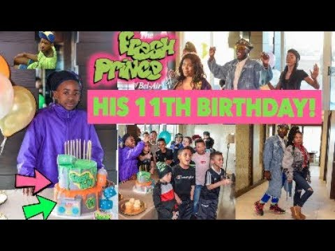 CELEBRATING MY LITTLE COUSIN'S 11TH BIRTHDAY!!! // HE HAD A FRESH PRINCE OF BEL-AIR PARTY!!!