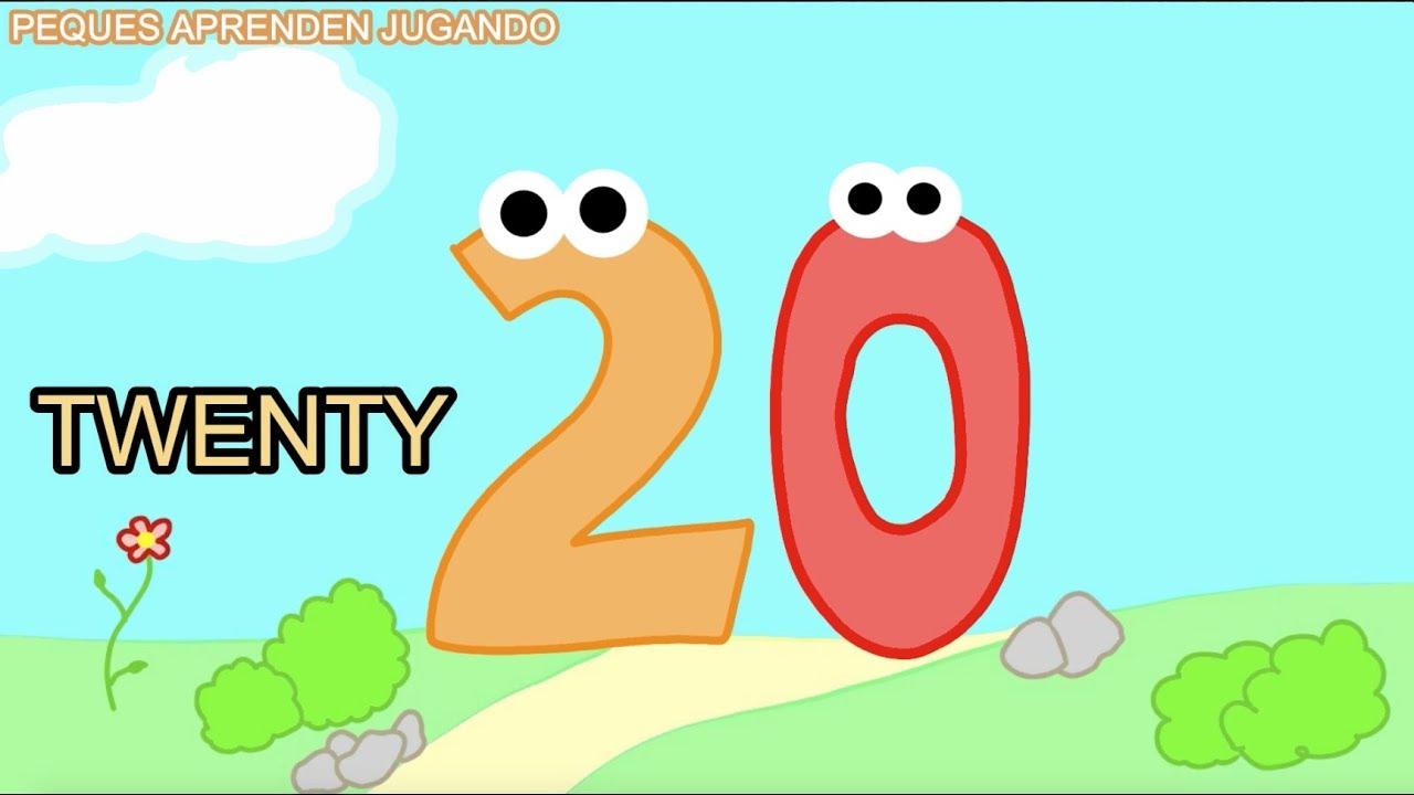 Números En Inglés Del 1 Al 20 Counting Numbers From 1 To 20 Video De Peques Aprenden Jugando Youtube
