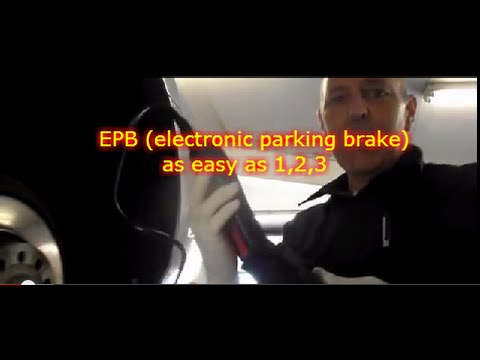 How to replace the rear brakes on a VW CC with electronic pa