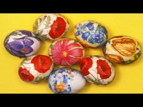 EASTER EGG - DECOUPAGE PAPER NAPKINS - HOW IT IS EASY TO DECORATE EGG TO EASTER - Easy DIY