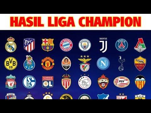 Hasil Lengkap Liga Champion Tadi Malam Youtube