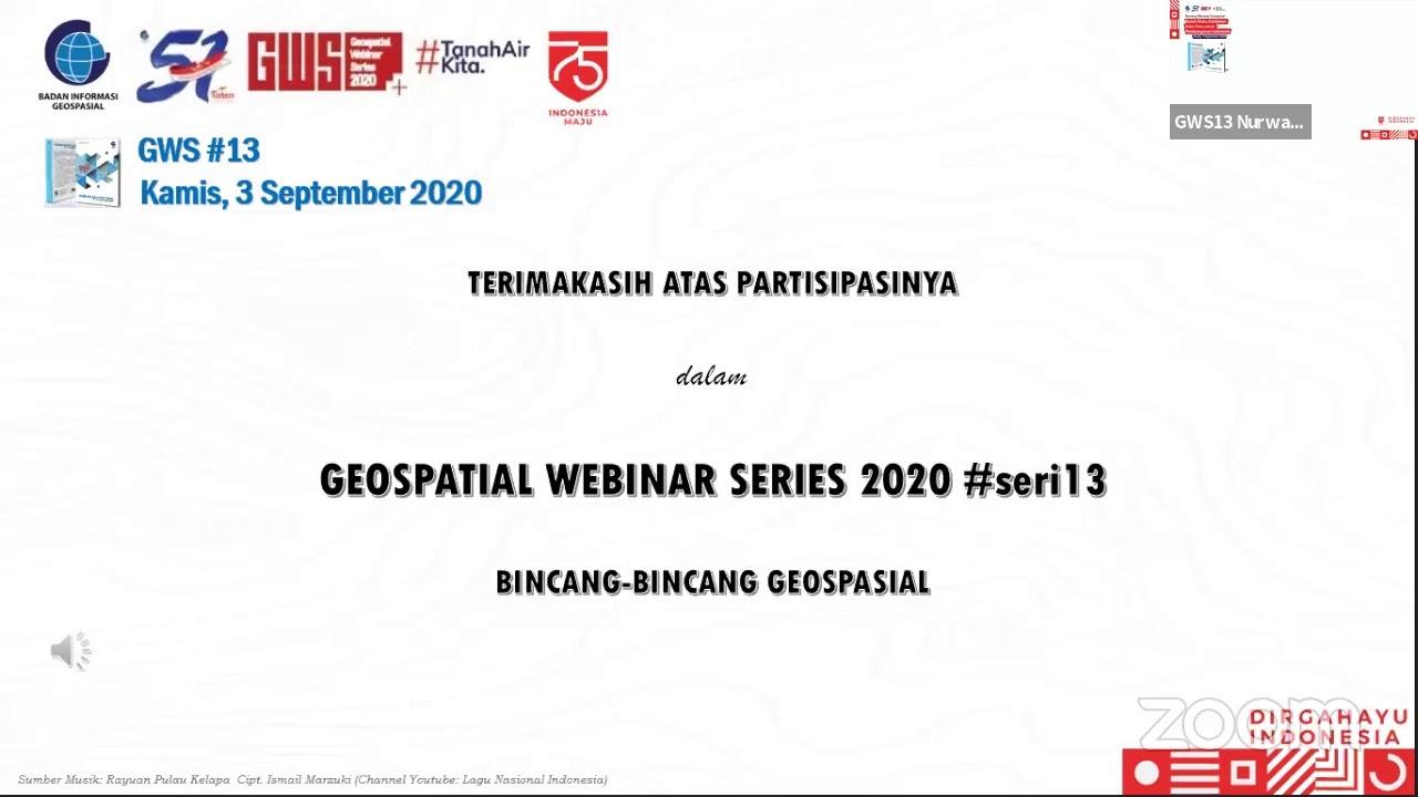 Geospatial Webinar Series #13